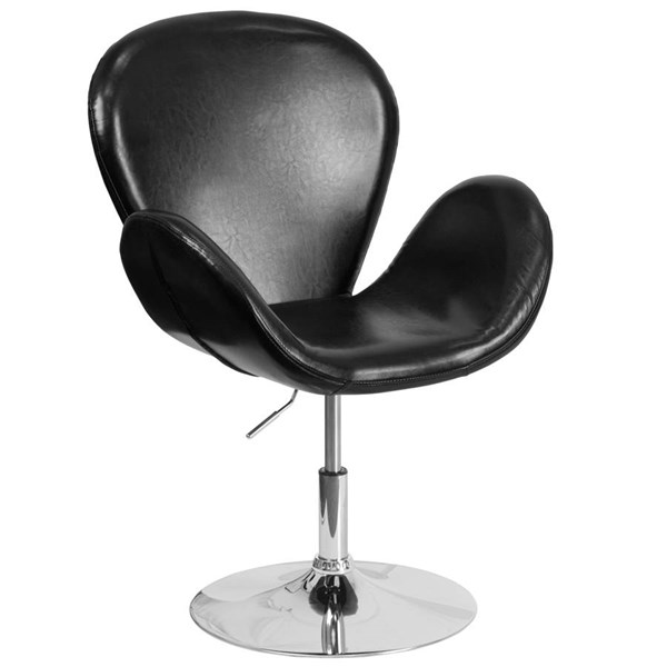 Flash Furniture Hercules Trestron Black Leather Side Reception Chair FLF-CH-112420-BK-GG
