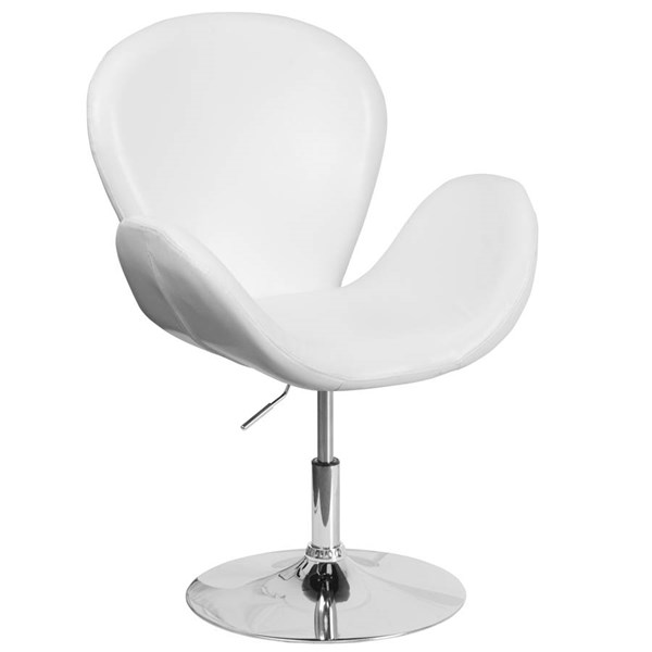 Flash Furniture Hercules Trestron White Leather Side Reception Chair FLF-CH-112420-WH-GG