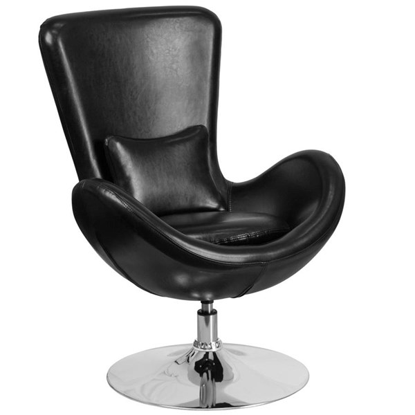 Flash Furniture Egg Leather Side Reception Chairs FLF-CH-162430-LEA-OFF-CH-VAR