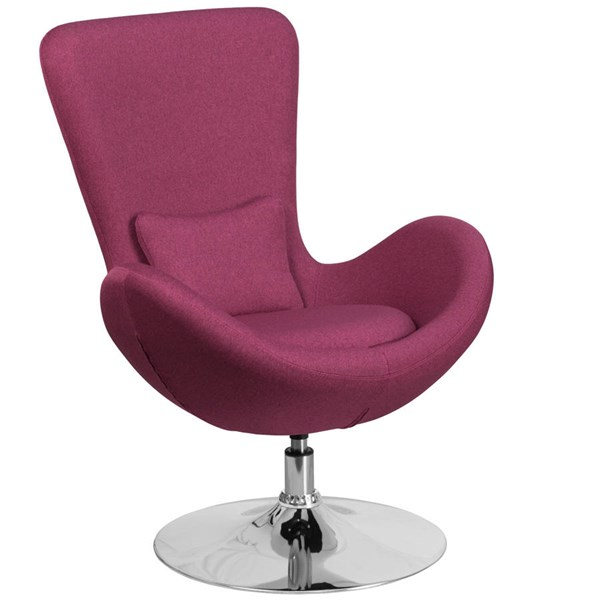 Flash Furniture Egg Magenta Fabric Side Reception Chair FLF-CH-162430-MAG-FAB-GG