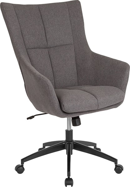 Flash Furniture Barcelona Dark Gray Fabric High Back Chair FLF-CH-177240-1-DGY-F-GG