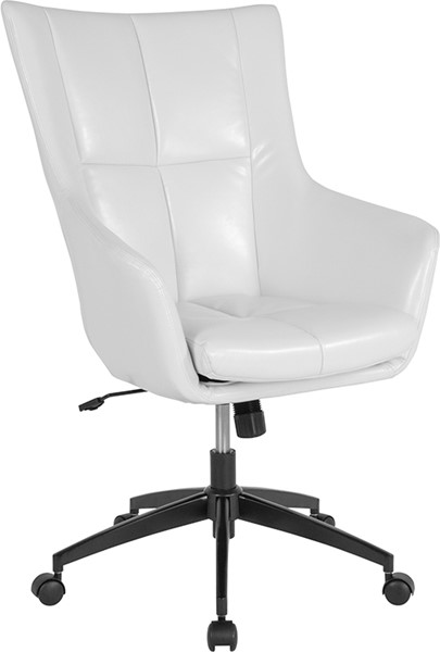 Flash Furniture Barcelona White Leather High Back Chair FLF-CH-177240-1-WH-GG