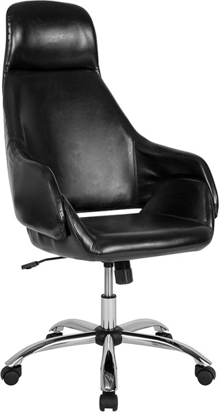 Flash Furniture Marbella Black Leather High Back Chair FLF-CH-177275-BK-GG