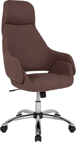 Flash Furniture Marbella Brown Fabric High Back Chair FLF-CH-177275-BR-F-GG