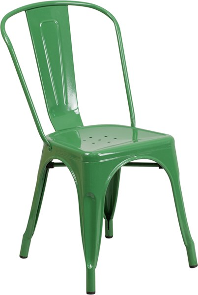 Flash Furniture Green Indoor Outdoor Stackable Chair FLF-CH-31230-GN-GG