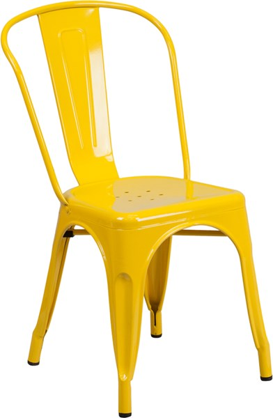 Flash Furniture Yellow Indoor Outdoor Stackable Chair FLF-CH-31230-YL-GG