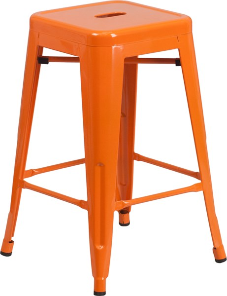 Metal Plastic Rubber Backless Metal Bar Stools FLF-CH-31320-24-GG-BS-VAR