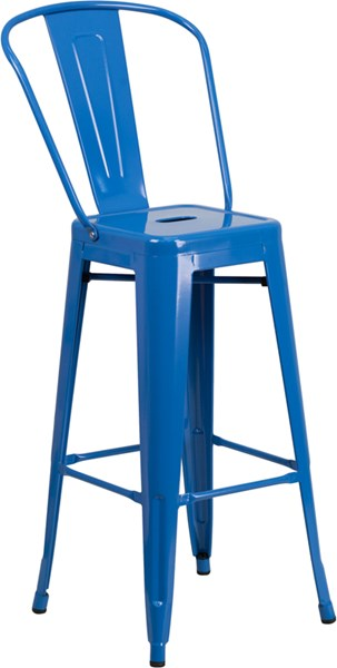 Flash Furniture 30 Inch High Blue Indoor Outdoor Barstool FLF-CH-31320-30GB-BL-GG