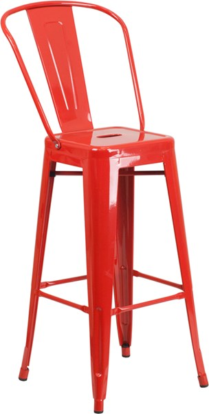 Flash Furniture 30 Inch High Red Indoor Outdoor Barstool FLF-CH-31320-30GB-RED-GG