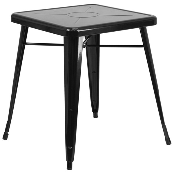 Flash Furniture 24 Inch Square Black Indoor Outdoor Table FLF-CH-31330-29-BK-GG