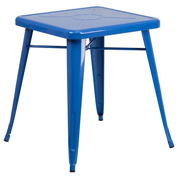 Flash Furniture 24 Inch Square Blue Indoor Outdoor Table FLF-CH-31330-29-BL-GG