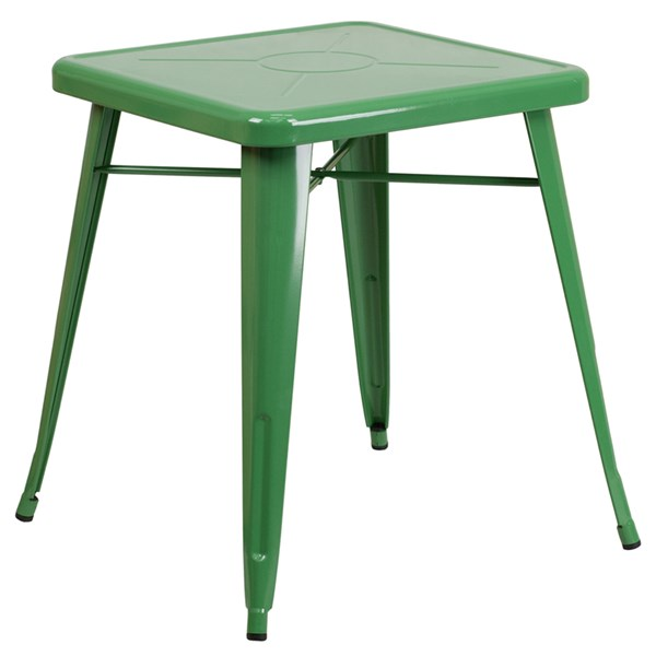 Flash Furniture 24 Inch Square Green Indoor Outdoor Table FLF-CH-31330-29-GN-GG