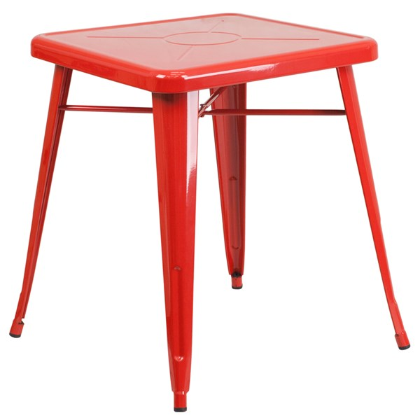 Flash Furniture 24 Inch Square Red Indoor Outdoor Table FLF-CH-31330-29-RED-GG