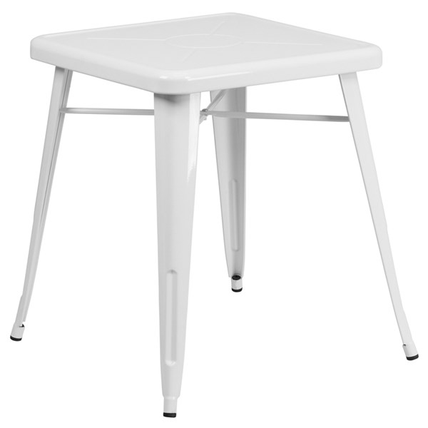Flash Furniture 24 Inch Square White Indoor Outdoor Table FLF-CH-31330-29-WH-GG