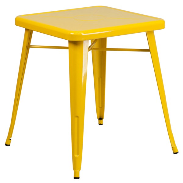 Flash Furniture 24 Inch Square Yellow Indoor Outdoor Table FLF-CH-31330-29-YL-GG