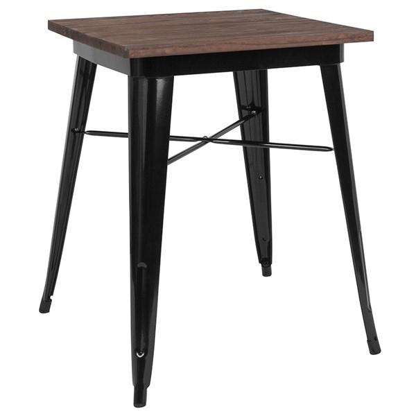 Flash Furniture Contemporary Black Square Metal Table FLF-CH-31330-29M1-BK-GG