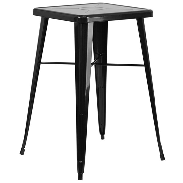 Flash Furniture 24 Inch Square Black Indoor Outdoor Bar Height Table FLF-CH-31330-BK-GG