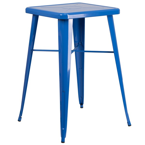 Flash Furniture 24 Inch Square Blue Indoor Outdoor Bar Height Table FLF-CH-31330-BL-GG