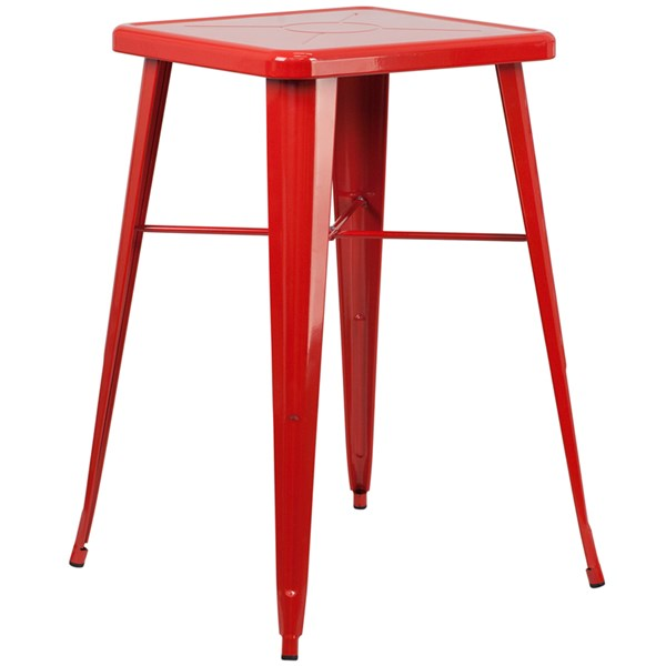 Flash Furniture 24 Inch Square Red Indoor Outdoor Bar Height Table FLF-CH-31330-RED-GG