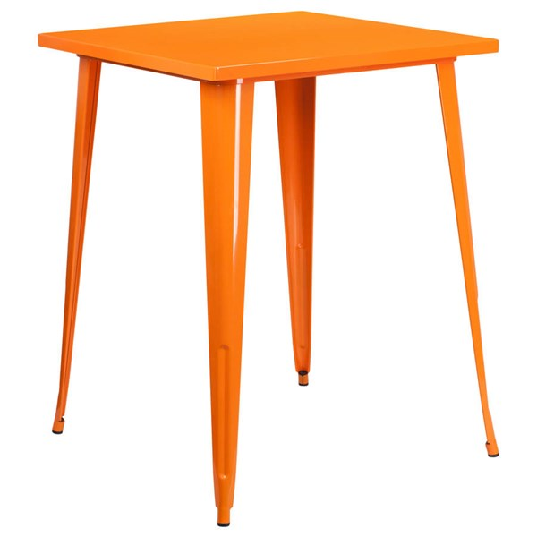 Flash Furniture Orange Metal Square Top Indoor Outdoor Bar Height Table FLF-CH-51040-40-OR-GG