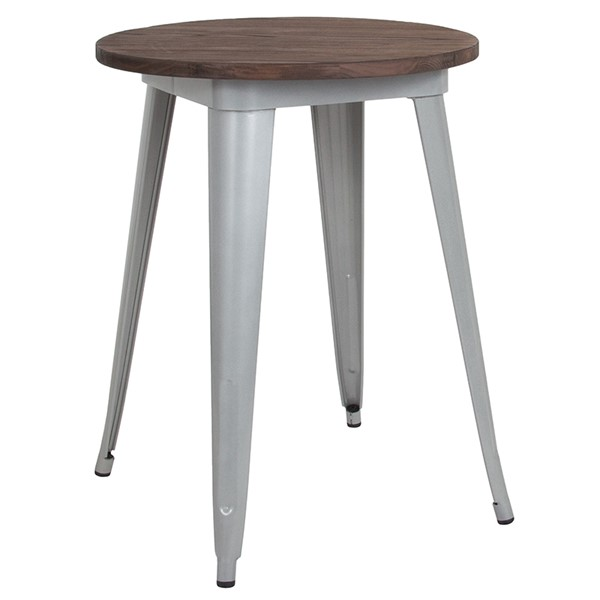 Flash Furniture Silver 24 Round Metal Table FLF-CH-51080-29M1-SIL-GG