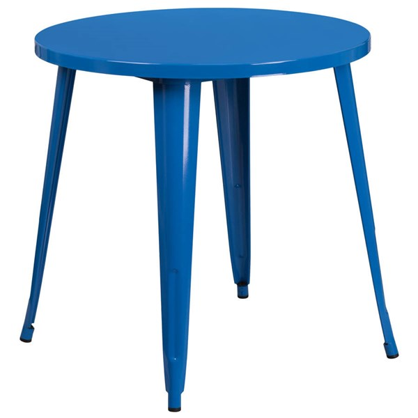 Flash Furniture Blue 30 Inch Round Solid Top Indoor Outdoor Table FLF-CH-51090-29-BL-GG