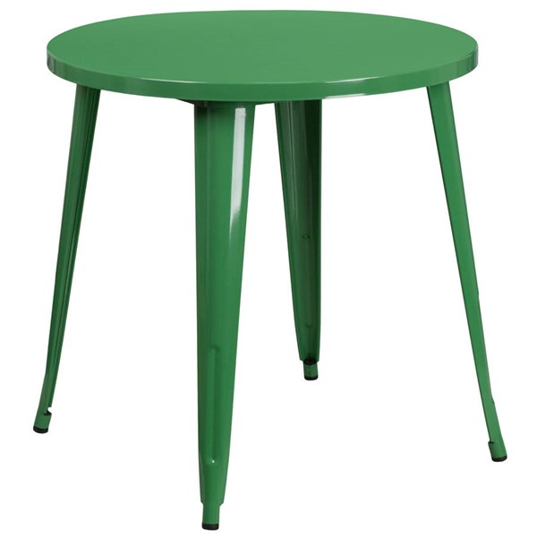 Flash Furniture Green 30 Inch Round Solid Top Indoor Outdoor Table FLF-CH-51090-29-GN-GG