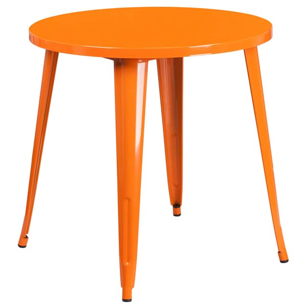Flash Furniture Orange 30 Inch Round Solid Top Indoor Outdoor Table FLF-CH-51090-29-OR-GG