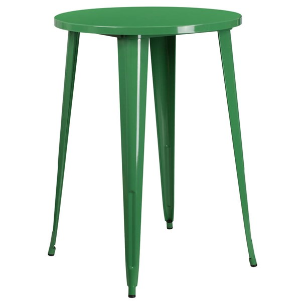 Flash Furniture Green 30 Inch Round Solid Top Indoor Outdoor Bar Height Table FLF-CH-51090-40-GN-GG