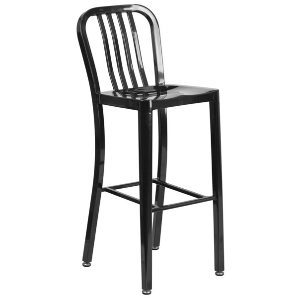 Flash Furniture Black Metal 30 Inch Indoor Outdoor Barstool FLF-CH-61200-30-BK-GG