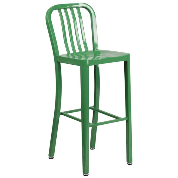 Flash Furniture Green Metal 30 Inch Indoor Outdoor Barstool FLF-CH-61200-30-GN-GG