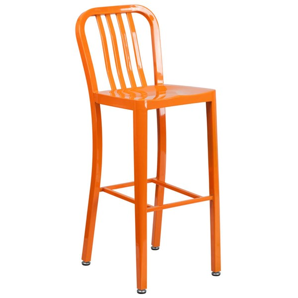 Flash Furniture Orange Metal 30 Inch Indoor Outdoor Barstool FLF-CH-61200-30-OR-GG