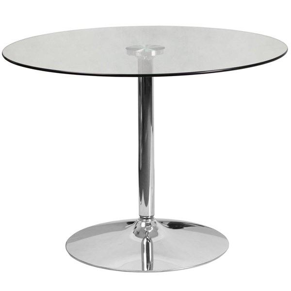 Flash Furniture Round Clear Glass Top and 29 Inch Height Table FLF-CH-8-GG