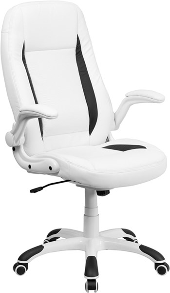 Flash Furniture High Back White Leather Executive Swivel Office Chair FLF-CH-CX0176H06-WH-GG