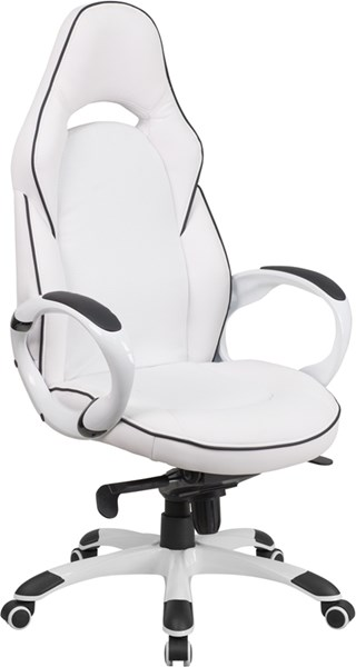 Flash Furniture High Back White Vinyl Executive Swivel Office Chair FLF-CH-CX0496H01-GG