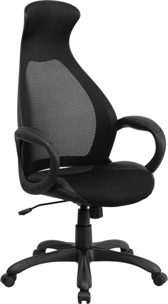 High Back Mesh Executive Swivel Office Chairs with Leather Seat FLF-CH-CX0528H01-LEA-GG-OFF-CH-VAR