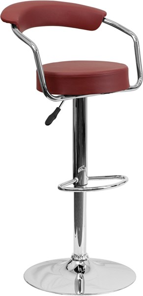 Metal Plastic Vinyl Adjustable Height Barstools W/Chrome Base FLF-CH-TC3-1060-GG-BS-VAR