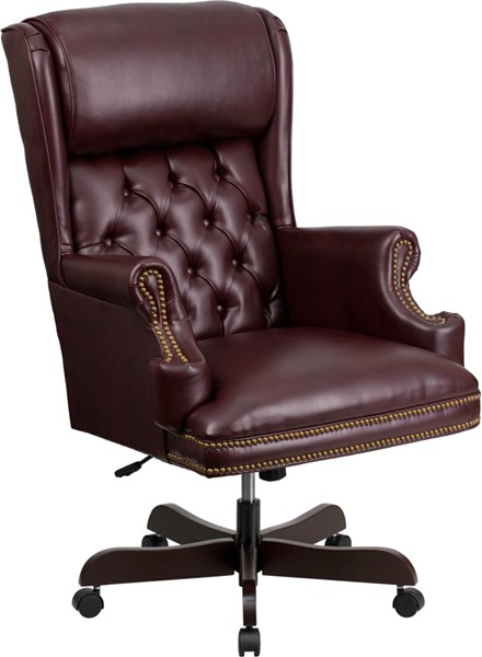Flash Furniture Traditional Tufted Leather Executive Swivel Office Chairs FLF-CI-J600-GG-OFF-CH-VAR