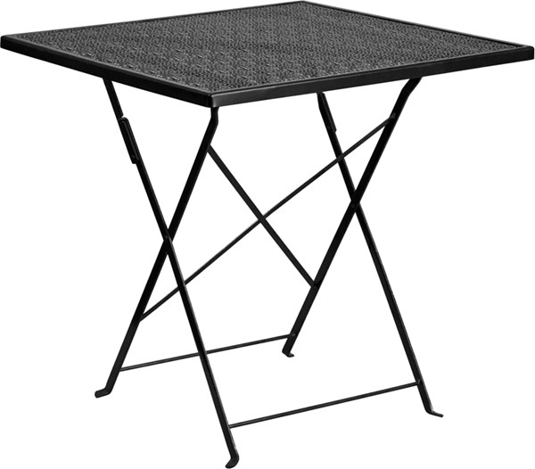 Flash Furniture Black 28 Square Folding Patio Table FLF-CO-1-BK-GG