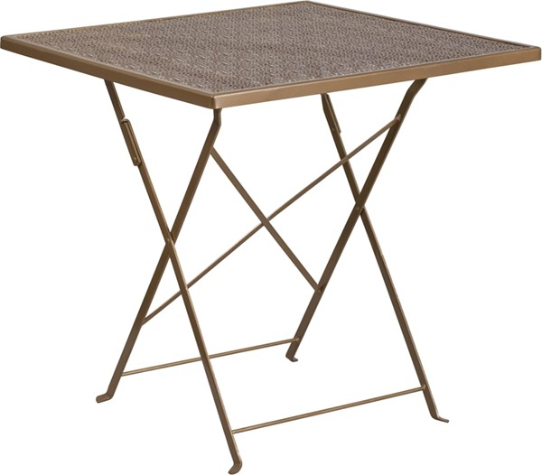 Flash Furniture Gold 28 Square Folding Patio Table FLF-CO-1-GD-GG