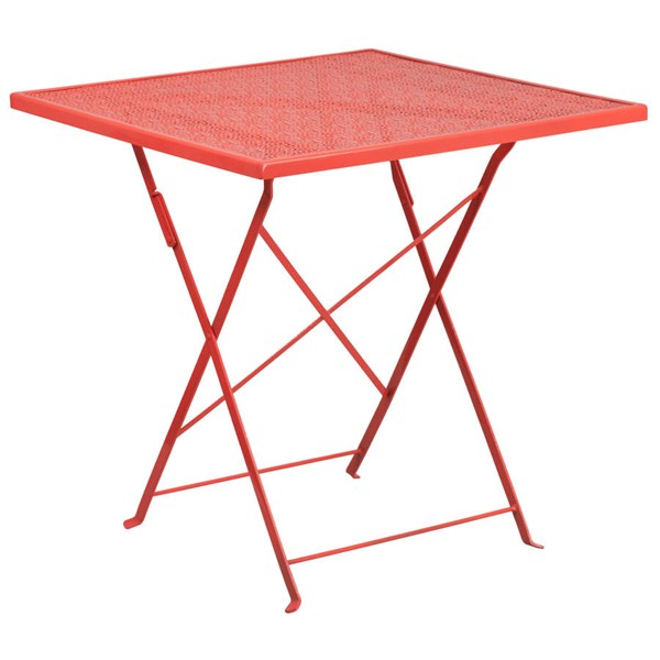 Flash Furniture 28 Inch Coral Indoor Outdoor Folding Patio Table FLF-CO-1-RED-GG
