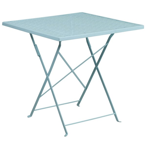Flash Furniture 28 Inch Sky Blue Indoor Outdoor Folding Patio Table FLF-CO-1-SKY-GG