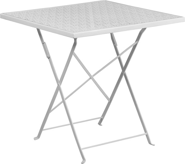 Flash Furniture White 28 Square Folding Patio Table FLF-CO-1-WH-GG