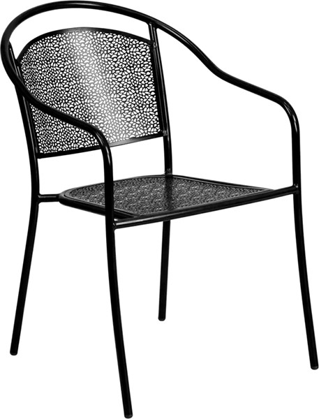 Flash Furniture Round Back Patio Chair FLF-CO-3-BK-GG-OUT-CH-VAR