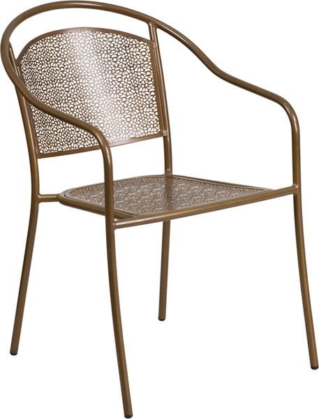 Flash Furniture Gold Round Back Patio Chair FLF-CO-3-GD-GG