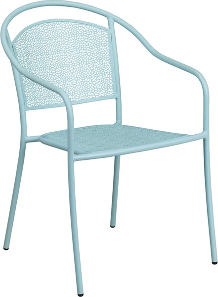 Flash Furniture Sky Blue Round Back Patio Chair FLF-CO-3-SKY-GG