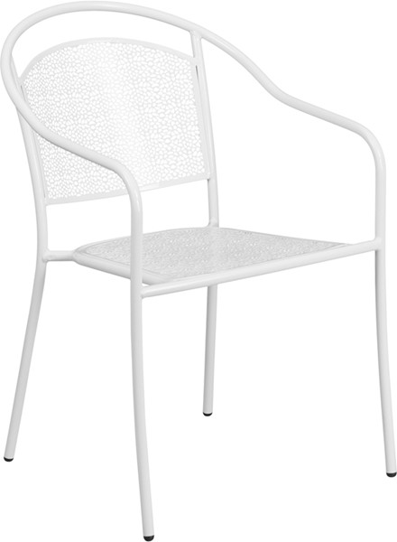 Flash Furniture White Round Back Patio Chair FLF-CO-3-WH-GG