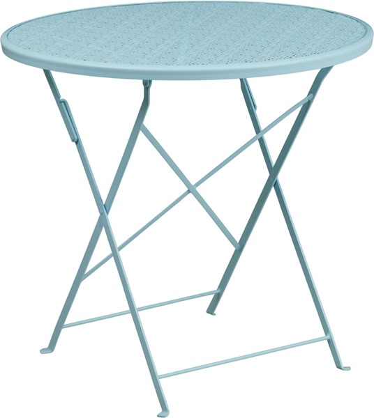 Flash Furniture Sky Blue 30 Round Folding Patio Table FLF-CO-4-SKY-GG
