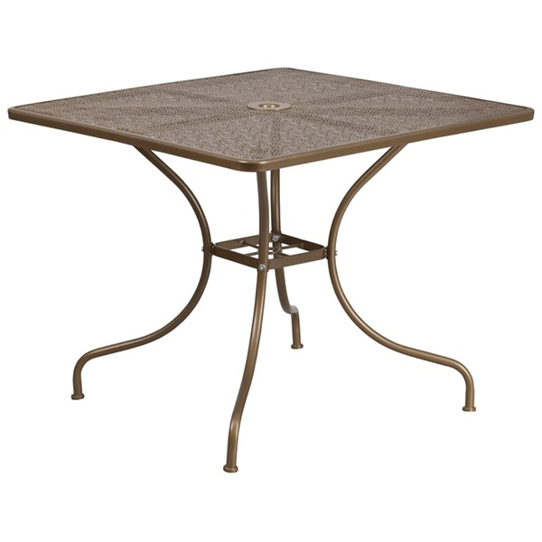 Flash Furniture Gold Square Patio Table FLF-CO-6-GD-GG