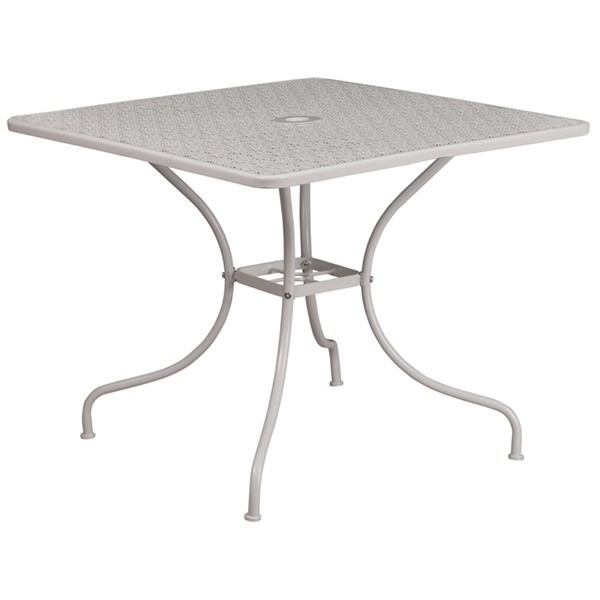 Flash Furniture Light Gray Square Patio Table FLF-CO-6-SIL-GG